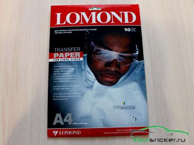 Термотрансферная бумага Lomond для белых тканей