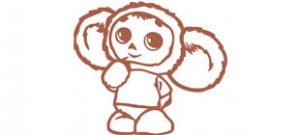 Чебурашка из мультфильма в векторе