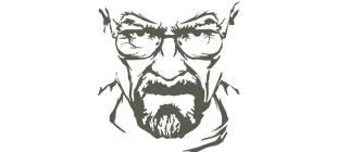Лицо мистера Хайзенберга в векторе