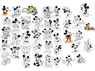 4. Микки Маус черно-белый