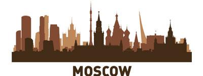 Силуэт Москвы в векторе