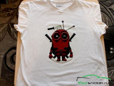 Принт на футболке своими руками