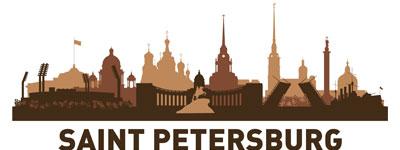 Силуэт Санкт-Петербурга в векторе
