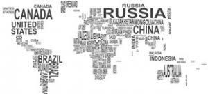 Наклейка Карта мира на стену в векторе
