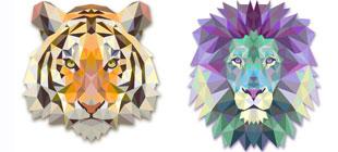Треугольные животные в векторе