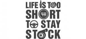 Life is too short to stay stock вектор