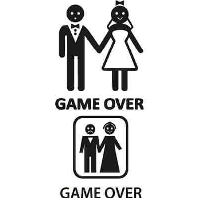 Наклейка Game Over