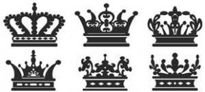 Короны в векторе на белом фоне