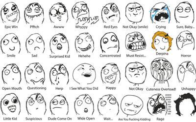 Мемы лица в векторе