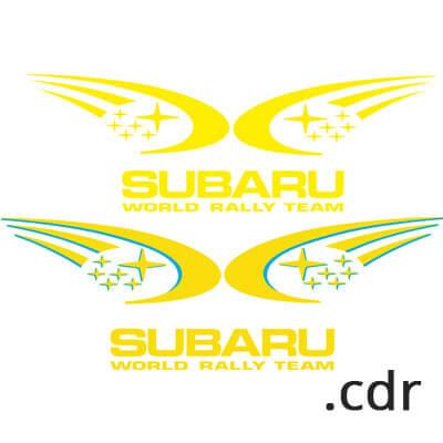 Наклейка на Subaru в векторе