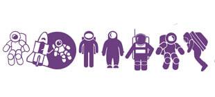 Персонажи космоса в векторе