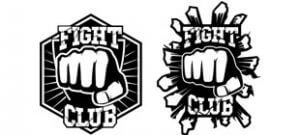 Наклейка Fight club в векторе