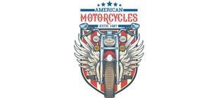 Американский мотоцикл в векторе