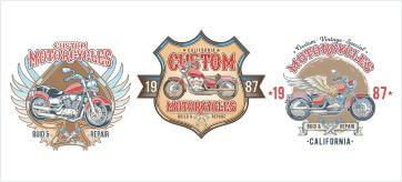 Каталог ретро мотоциклов в векторе