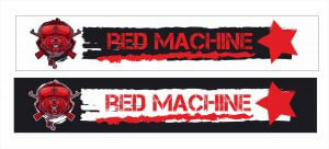 Налейка на лобовое Красная машина