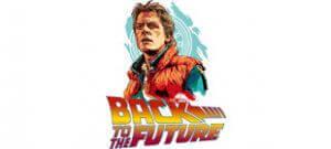Принт Назад в будущее (Back to the Future) в векторе