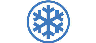 Снежинка на белом фоне в векторе